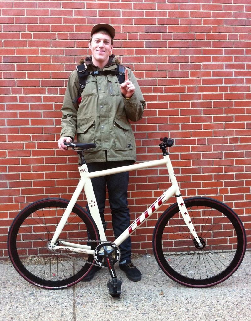 "Steve Parry with His Full Custom ""Fixie"" City Bike"