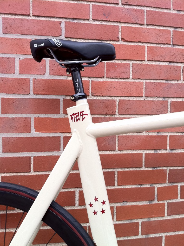 Full Custom City Fixed Gear Track bike Hand Crafted in Philadelphia by Elite Bicycles